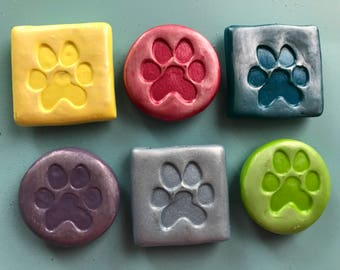 Puppy Paw Print Magnets