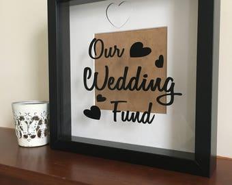 Wedding fund saving frame, picture frame, engagement gift