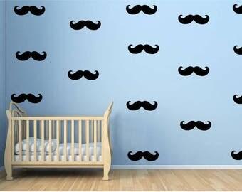 Mustache Wall Decal - Wall Decor - Nursery Decor - Kids Room Wall Decor