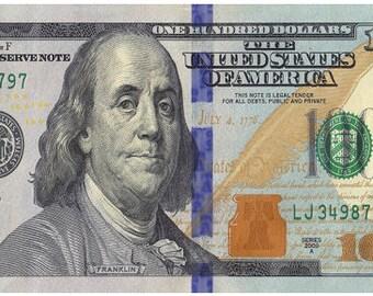 100 Dollar Bill Towel - Benjamin Franklin Towel - Boys Shower Towel - Girls Beach Towel-Novelty Towels- Money Towel - Towels for Men & Women