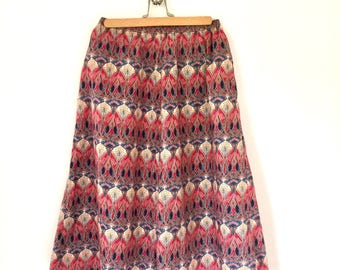 Liberty of London Tana Lawn Print Skirt with Pockets  - Size Small