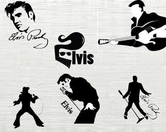 Elvis presley SVG, Elvis cutfile svg, svg files for silhouette cameo, cricut explore, dxf file, King of Rock n roll