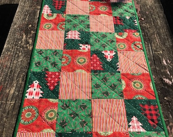 Christmas Squares Table runner
