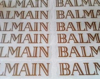 10 BALMAIN Stickers BALMAIN Decal BALMAIN Party Stickers Envelope seals Fashion Party Decor