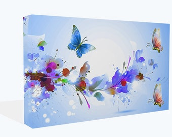 Fantasy Butterflies Colour Splashes Canvas Print Or Poster Print