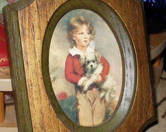 FRENCHBOY with DOG Framed Print