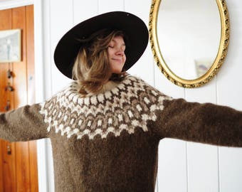 VIntage Chunky Knit Wool Sweater