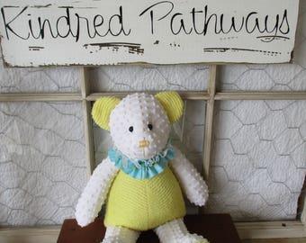 Chenille bear ~handmade~celebration bear