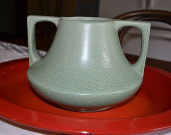 Haeger Pottery Green Eve Vase