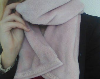 Scarf lace soft fleece
