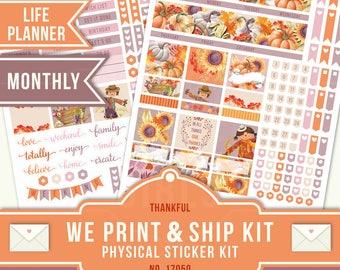 ECLP MONTHLY KIT, Life Planner Sticker, Erin Condren Planner, November Monthly Kit, Erin Condren Monthly Kit, Monthly Planner Kit, 17050