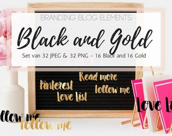 Branding blog elements black & gold