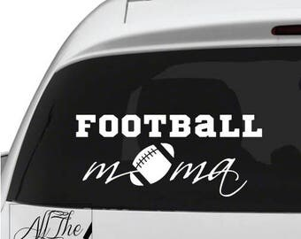 Football Mom Vinyl Decal - Football Decal - Football Mom Dad Decal - Football Mom Vinyl Decal - Sports decal - Football sticker