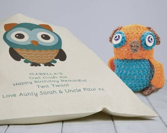 Personalised Crochet Owl Craft Kit