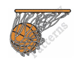 Basketball Net - Machine Embroidery Design
