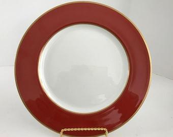 "Vintage Mikasa Bone China Egyptian Terracotta 10 1/2"" Dinner Plate A6850"