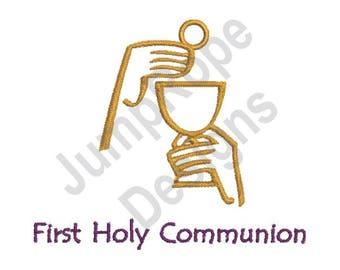 First Eucharist  - Machine Embroidery Design