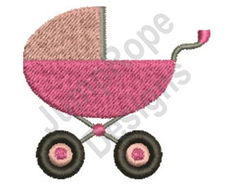Baby Girl Carriage - Machine Embroidery Design
