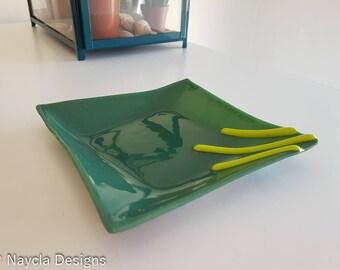 Handmade Fused Glass Dish
