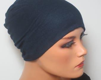 NIGHT/sleep liner Cap many colors chemo Hat very stretchy without noticeable seams chemotherapy alopecia hair loss rather than wig