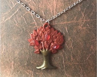 Pendant , tree resin , tree of life pendant.