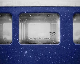Train Window with Phrase, Polar Express, premade Backdrop, Christmas Background, Digital Backdrop, Winter Backdrop, Photo edit, Fantasy Art