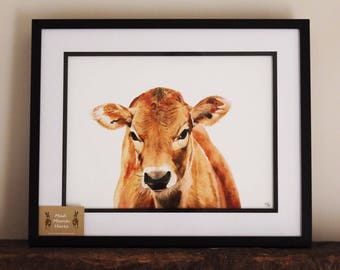 Jersey Cow Framed Print A3