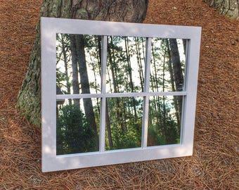 Faux Window Mirror / Window Mirror/ Home Decor / Wall Art