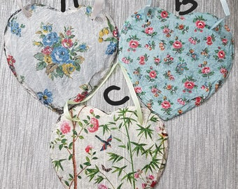 Vintage Shabby Chic - Small - Real Slate Heart Shaped Decoupage - 3 designs - Will look outstanding in a kitchen