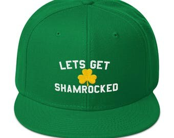 St Patricks Day Green Irish Baseball Hat With Gold Shamrock
