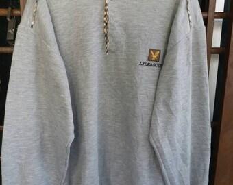 Vintage Lyle & Scott half button casual sweatshirt L/M
