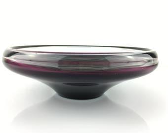 Mid-Century Purple Glass Bowl by Per Lutken for Holmegaard, Danish Design