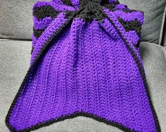 Teen Mermaid tail blanket,  adult mermaid tail blanket, adult mermaid tail blanket, crochet mermaid blanket, crochet mermaid tail