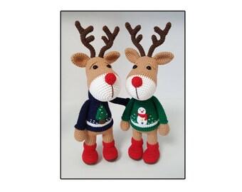 amigurumi Reindeer pattern ,christmas