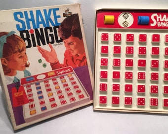 Vintage 1969 Shake Bingo Game By Schaper Complete in Good Condition FREE SHIPPING