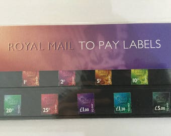 To Pay Labels Royal Mail Mint Stamps Presentation Pack 1994