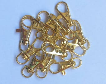 35mm Rotating Gold Plated Key Ring