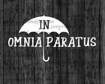 In Omnia Paratus Umbrella decal, Gilmore Decal, Umbrella Decal, In Omnia Paratus, Car decal, Window decal, Laptop Decal, Tablet decal