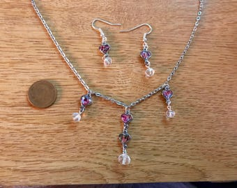 Paua Shell Heart Jewelry Set