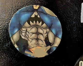 Gay Batman Magnet, Gay Super Hero Magnet, Refrigerator Magnet, Gay Couple Art, Gay Male Magnet, Gay Pride, Gay Male Art,