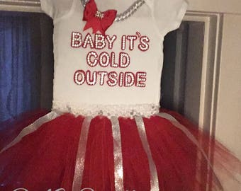 Baby it's col outside Onesie and tutu