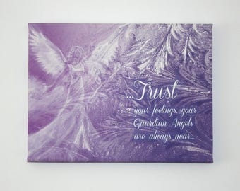 """Trust your Angels -  9""""x12"""" Canvas Print"""