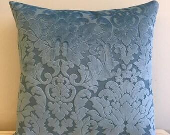 Blue Velvet Pillow Cover, Pillow Velvet, 18X18 Blue Pillow, Designer Pillow, Velvet Pillows, Velvet Cushion Covers, Blue Sofa Pillow