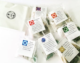 7 Chakra Tea Set (14 large bags) for Energy Alignment