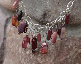 Chunky Agate and Silver  Necklace