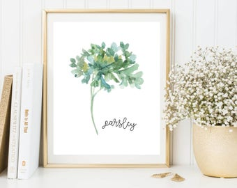 Herbs Printable, Parsley Printable, Herbs Wall Art, Herbs Print, Parsley Art, Parsley Print, Parsley Poster, Kitchen Printable