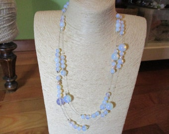 Necklace two strands opal