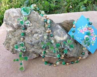 Shamrock Irish Glitter Handmade Fashion Rosary