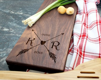 Personalized Cheese Board - Engraved Cheese Board, Custom Cheese Board, Housewarming Gift, Wedding Gift, Engagement Gift, Anniversary (019)