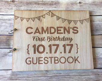 Birthday Wooden Guestbook